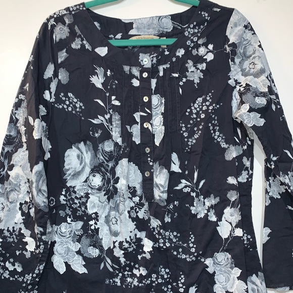 Soft Surroundings Tops - Soft Surroundings Blue Floral Tunic Top Medium